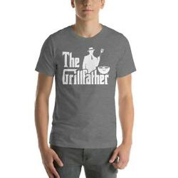 Vintage The Grillfather Bbq Shirt Vintage Gift For Men Women Funny Tee $15.95