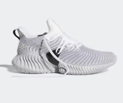 Adidas Mens Size 9 Alphabounce Instinct White Black Running Trainers Shoes $49.99