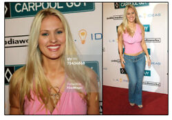 Darcy Donavan Celebrity Red Carpet Pink Top Autographed Memorabilia and Photo