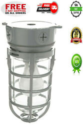 EXPLOSION PROOF STYLE CEILING MOUNT CAGE LIGHT COMMERCIAL INDUSTRIES FIXTURE