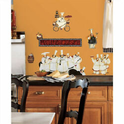 fat Italian CHEFS wall stickers 17 decals country cooks Kitchen Bistro Cafe $16.89