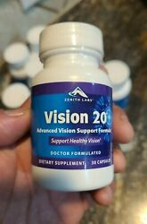 Zenith Labs Vision 20 Advanced Visio Support Formula 30 Capsules EXP 12 2023 $26.99