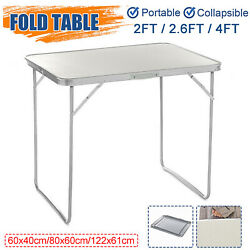 Portable Indoor Outdoor Aluminum Folding Table 4 2.6 2FT Picnic Party Camping $42.98