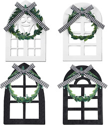 4 Window Tiered Tray Decoration Farmhouse Decor Cathedral Arch Rustic Wall Decor $14.99