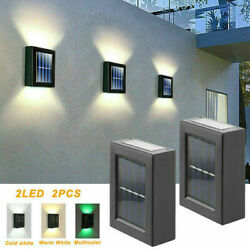 Outdoor Solar 2 LED Deck Lights Path Garden Patio Pathway Stairs Step Fence Lamp $13.69