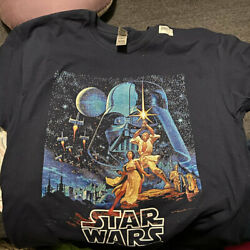Star Wars A New Hope Vintage Poster Adult T Shirt $18.99