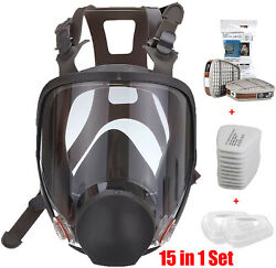 15 in 1 Facepiece Full Face Gas Mask Filter Respirator Painting Similar For 6800 $41.98
