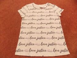 justice girls size 10 love justice pattern tee nwt $10.79