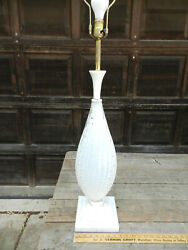MID CENTURY VINTAGE MURANO GLASS LAMP WITH MARBLE ACCENT BASE $349.99