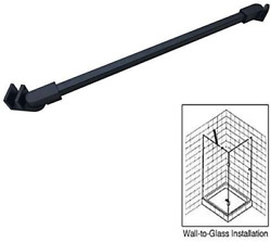 Matt Black Stainless Steel Wall to Glass Support Bar Support Arm for 5 16quot; to 3 $56.96