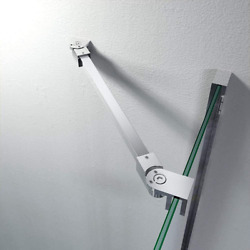 Stainless Steel Frameless Shower Door Fixed Panel Wall To Glass Support Bar for $50.67