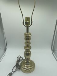 "Vintage Solid Brass Lamp W o Shade 25"" $85.00"