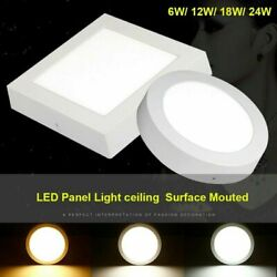Bright Round LED Ceiling Down Light Panel Wall Bathroom Kitchen Office Lamp $9.15