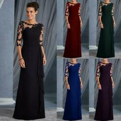 Women Lace Long Formal Evening Party Dresses Cocktail Prom Gowns Maxi Christmas $13.99