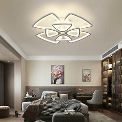 Flower Windmill Shaped LED Metal Ceiling Light Chandelier Living Room Remote $128.01