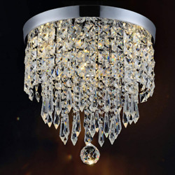 Hile Lighting KU300074 Modern Chandelier Crystal Ball Fixture Pendant Ceiling X $34.11