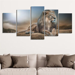 Roaring Lion Wildlife Wall Art Animal Canvas Painting Poster Print Home Decor $16.99