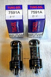 Tung Sol Factory Platinum Matched PAIR two 7591A 7591 $65.95