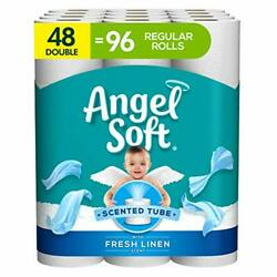 Angel Soft Toilet Paper with Fresh Linen Scent 48 Double Rolls 200 2 Ply $24.04