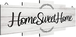 Jetec Home Sweet Home Sign Rustic Wood Home Wall Decor Large Farmhouse Home Si $15.99