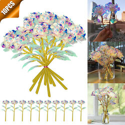 10PCS Galaxy Artificial Rose Flower Decor Valentines Mother#x27;s Simulation Gift US $14.48