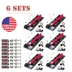 6PACK PCI E 1x to 16x Powered USB3.0 GPU Riser Extender Adapter Card VER 009s US $34.00