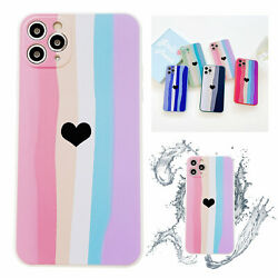 Love Heart Silicone Cute Soft Phone Case For iPhone 12 11 Pro Max XS XR 7 8 Plus $6.75