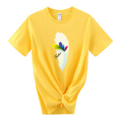 Women Feather Watercolor Trend Cute Casual Summer Clothes Graphic T shirt $57.64