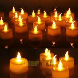 24pcs LED Tea Lights Battery Operated Flickering Flameless Candles $13.87