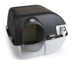 Large Elite Self Cleaning Cat Pet Litter Box Easy to Use in Chrome Accents $46.00