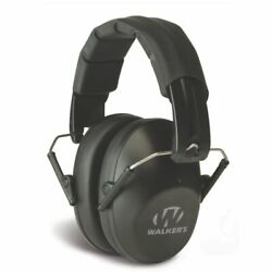 Walkers Pro Low Profile Folding Ear Muff BLACK Passive Hearing Protection $9.50