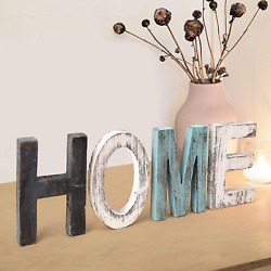 Home Signs Home Decor Sign Teal Wall Decor Home Wooden Letters for Wall Decor R $16.99