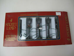 Vtg Dickens Collectibles 4 Street Lamps Lighting Display Battery Operated $9.99