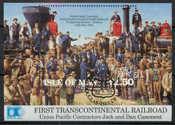 Isle of Man 1992 Union Pacific Railroad sheet SG MS 526 used A164 *COMBINED POST GBP 1.19