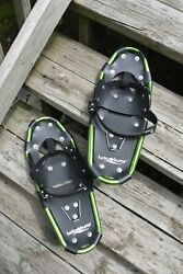 Lucky Bums Kids Aluminum Alloy Snowshoes Green 19 inch Rated up to 90 LBS. $29.99