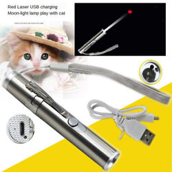 USB Rechargeable 3 in 1 Pointer Pen Cat Dogs Pet Training Toy UV Flashlight $9.10