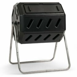FCMP Outdoor IM4000 37 Gal. Dual Chamber Tumbling Composter Black $109.86