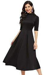 Women#x27;s Western Fit amp; Flare One Piece Plain Black A Line Maxi Dress For Girls $40.00