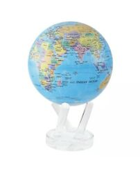 Political Map Blue MOVA Globe 4.5quot; Inch SPINNING New $160.00