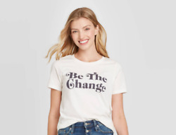 Women#x27;s Be the Change Graphic T Shirt Grayson Threads Various Sizes S224 $11.99