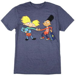 Nickelodeon Hey Arnold Men#x27;s Gerald and Arnold Thumbs Up T Shirt $18.25