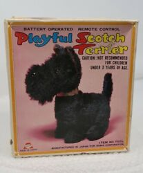 Vintage Asahi Japan Scotch Terrier Toy Dog Battery Operated Not Working $12.99