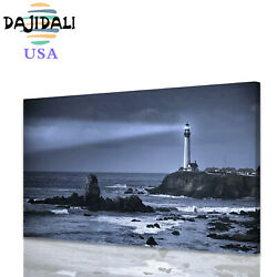 Canvas Print Painting Picture Photo Wall Art Home Decor Sea Lighthouse Large $18.69