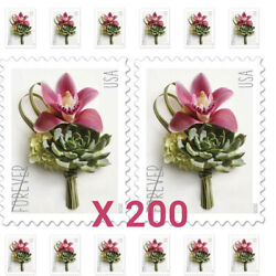 200 Pcs USPS Contemporary Boutonniere Flower Forever Stamps Mail Postage 2020 US $29.88