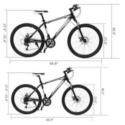 MTB 24quot; 26quot; Wheels 21 Speed Mountain Bike Front Suspension Steel Frame Bicycle $159.59