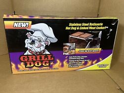 grill dog stinless steel rotisserie hot dog and linked meat cooker $85.00