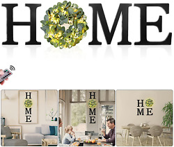 Home Signs for Home Decor with Remote Fairy Light Wood Home Letters with Artif $59.99