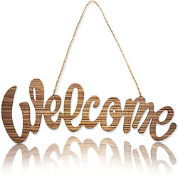 Wooden Welcome Sign Rustic Welcome Home Signs for Front Door Decor for Porch D $14.99