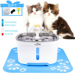 Automatic Electric Pet Water Fountain Cat Dog Drinking Dispenser w Filter Mat $8.99
