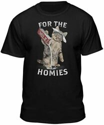 Cute Cat For The Homies Cat Pouring Milk Love Kitty Cat Lover T Shirt S 5XL $19.99